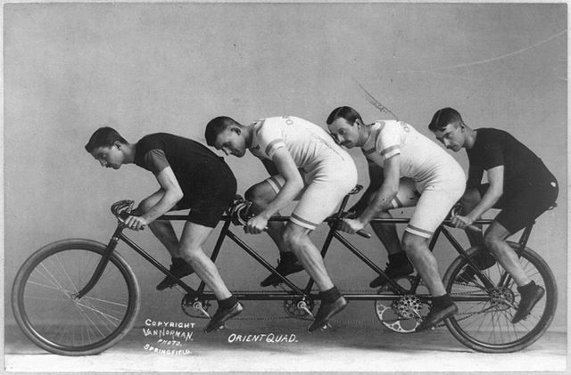 "George H. Van Norman (n. 1898): ""Bike for Four""; Wikipedia/Public Domain"